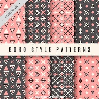 Muster von formen in boho-stil