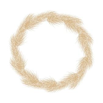 Muster von pampas-trockengras boho branch nahtlose hintergrund von pampas-gras rispe