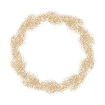 Muster von pampas-trockengras-boho-zweig nahtloser hintergrund von pampasgras-rispenfederkopf