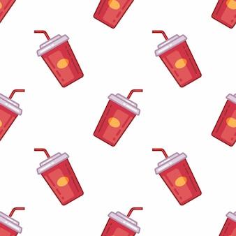 Muster von soda trinken