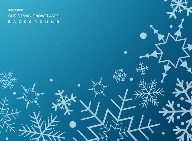 Muster von weißen geometrischen schneeflocken