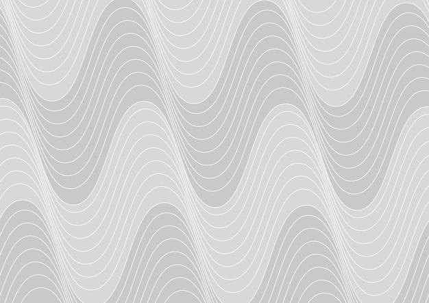 Muster von weißen wellenlinien auf grauem hintergrund