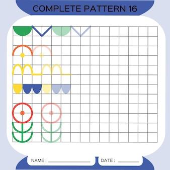 Muster wiederholen pazzle copy picture special für kinder im vorschulalter druckbares arbeitsblatt für kinder zum üben