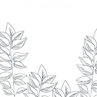 Musterblumen und blätter lokalisierten ikone
