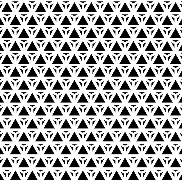 Musterdesign geometrischer nahtloser dreieck-modehintergrund schwarzweiss