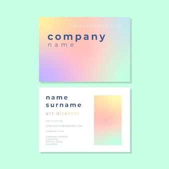 Musterfarbe für visitenkartenkonzept