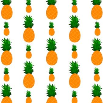 Musterhintergrund mit ananas. design für grußkarten, sommereinladungen, trendiger stoff, einfache verzierung, texturvorlage, stilvolles layout. vektor-illustration.