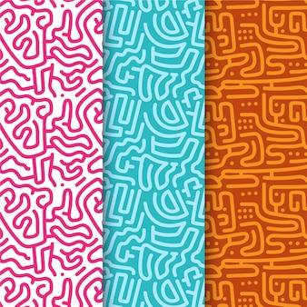 Musterkollektion für abgerundete linien