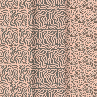 Musterkollektion mit abgerundeten linien