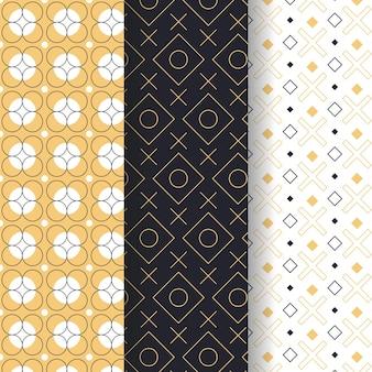 Musterpaket im geometrischen stil