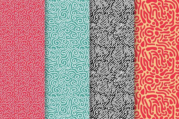 Musterpaket mit abgerundeten linien
