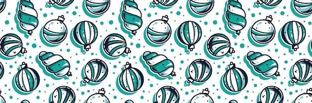 Mustertapete mit neujahrs- oder weihnachtskugeln
