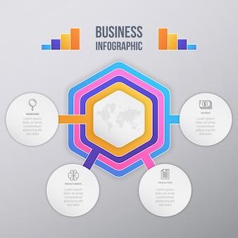Muticolor business infographik template design