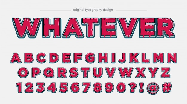Mutige rote tropfende typografie