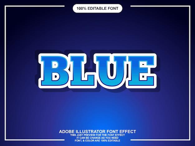 Mutiger blauer moderner bearbeitbarer texteffekt-grafikstil