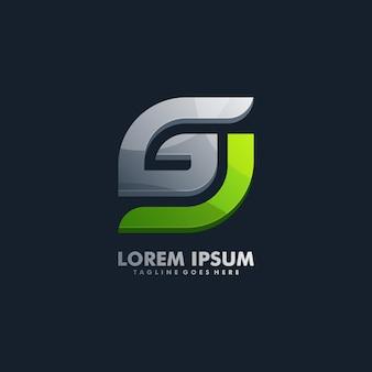 Mutiger buchstabe g logo vector