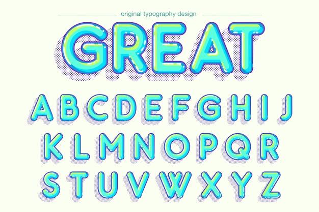 Mutiges typografiedesign der vibrierenden blase