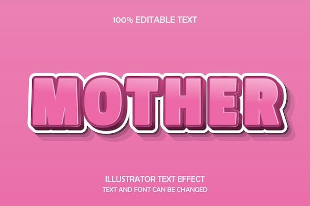 Mutter, 3d bearbeitbarer texteffekt prägen schatten 3d stil