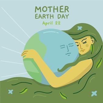 Mutter erde tag ereignis mit planeten