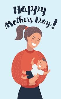 Mutter füttert baby mit milch in der flasche, muttertag, saugen, säugling, mutterschaft, unschuld
