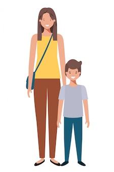 Mutter und sohn avatar charakter