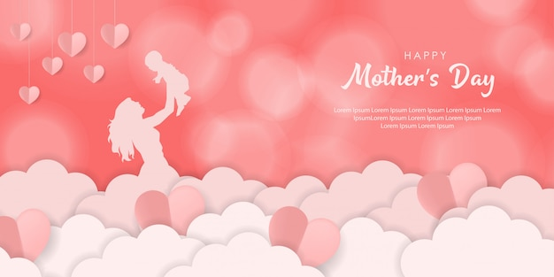 Muttertag hintergrunddesign