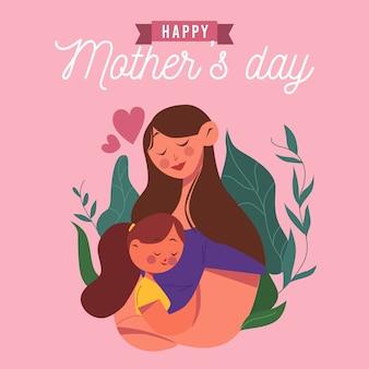 Muttertag mit mutter und kind