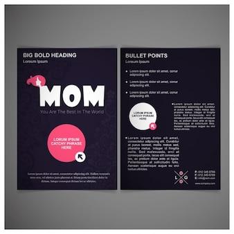 Muttertag vorderseite rückseite poster