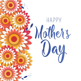 Muttertaggrußkarte mit blütenblumen