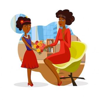 Muttertags-geburtstags-jubiläums-postkarten-konzept