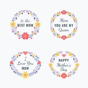 Muttertagsabzeichen sammlung