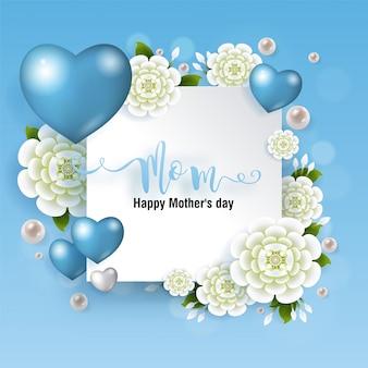Muttertagsgrußkarte mit goldpapierschnittkunsthandwerksart auf farbhintergrund für grußkarte, einladung.