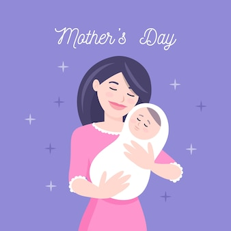 Muttertagsillustrationskonzept