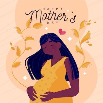 Muttertagsillustrationsstil