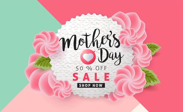 Muttertagsverkaufsbanner