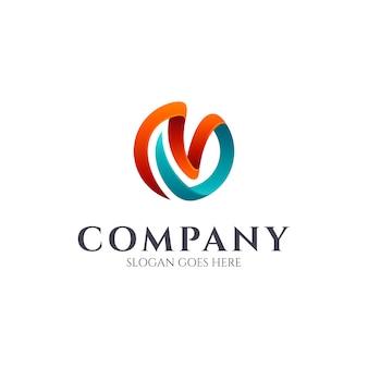 Mv monogram logo design