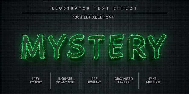 Mystery editierbarer texteffekt, schriftstil