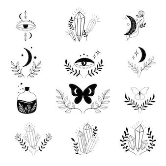 Mystische boho-sammlung esoterisch
