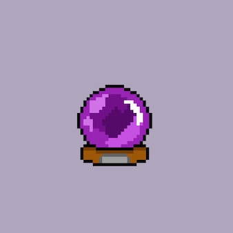 Mystischer ball mit pixel-art-stil