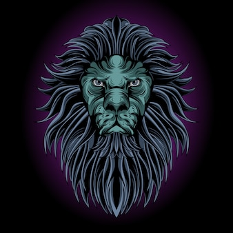 Mystischer löwenkopf