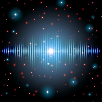 Mystisches glänzendes klangzeichen mit funkeln