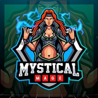 Mystisches magier-maskottchen