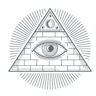 Mystisches okkultes zeichen