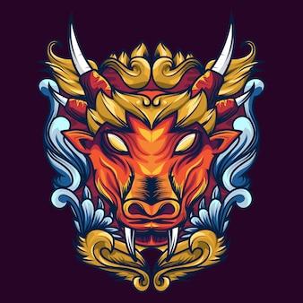 Mythische waldkuh-heilige geometrie