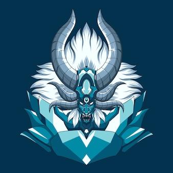 Mythischer dämonenkopf