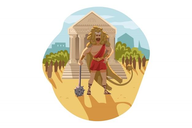 Mythologie, griechenland, olymp, gott, herakles, religionskonzept