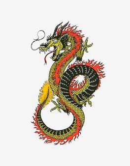 Mythologisches tier oder asiatisches traditionelles reptil