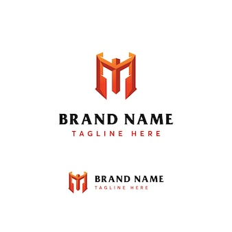 Mytic luxury letter m logo-vorlage
