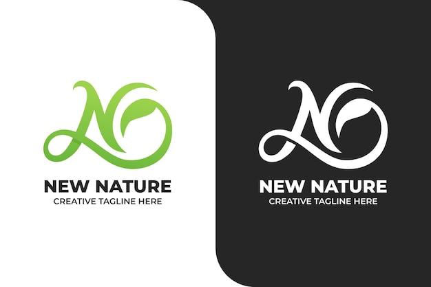 N buchstabe naturgrünes minimalistisches logo