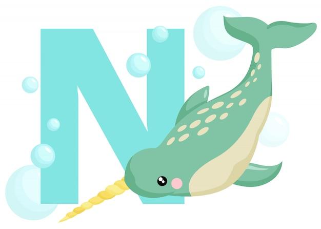 N für narwhal